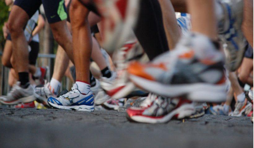 Pies de maratonístas