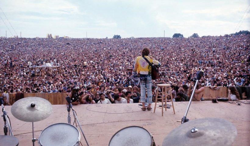 Imagen del festival de Woodstock 1969
