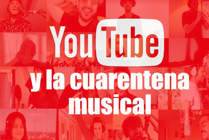 Logo de Youtube y la cuarentena musical