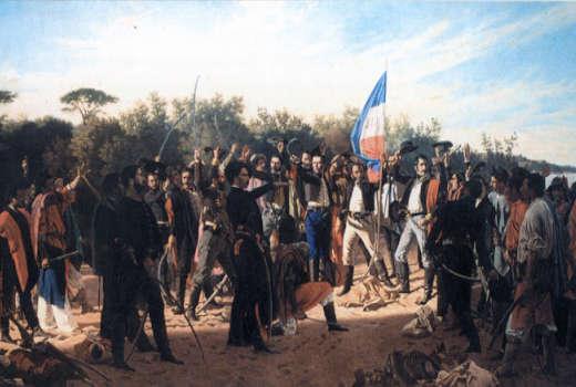 Pintura de los 33 de Uruguay