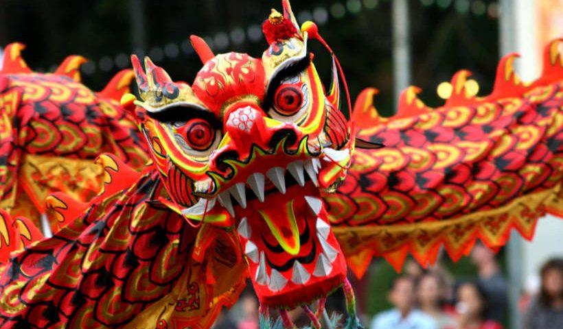 Típico dragón chino