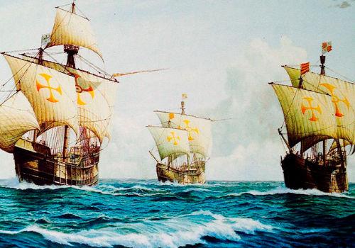 La carabelas de Cristobal Colón