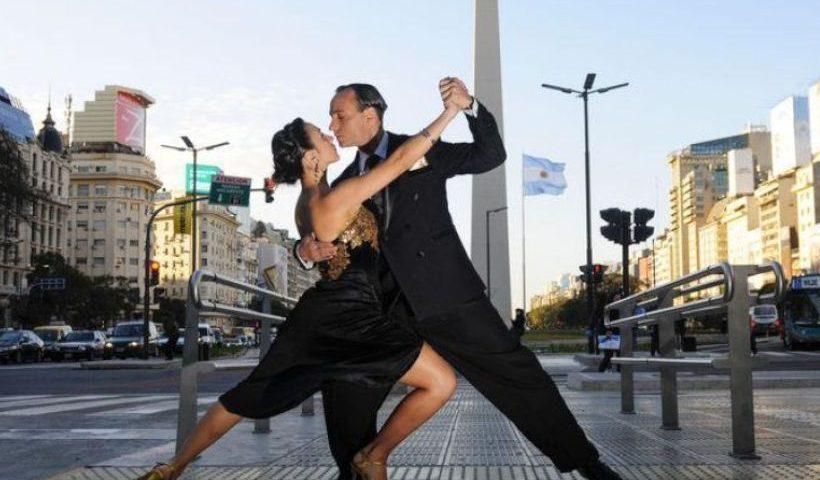 Bailadores de tango en Buenos Aires, Argentina