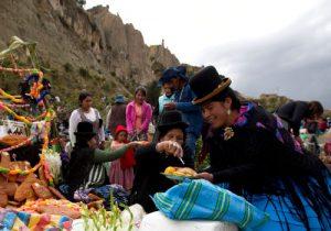 Celebración del día de los muertos en Bolivia