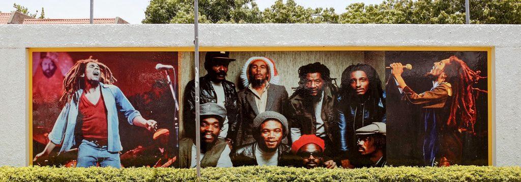 Mural homenaje a Bob Marley