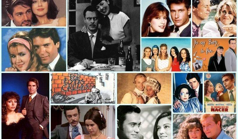 Collage de imagenes de telenovelas