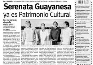 Serenata Guayanesa Patrimonio Cultural de Venezuela